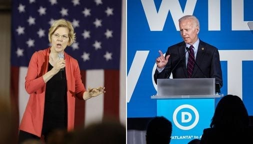 Joe Biden continues to lead Elizabeth Warren among Democratic voters in Massachusetts